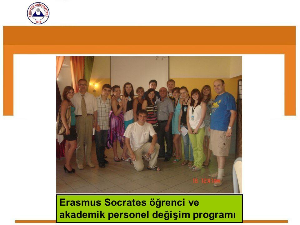 Erasmus Socrates öğrenci ve akademik personel değişim programı