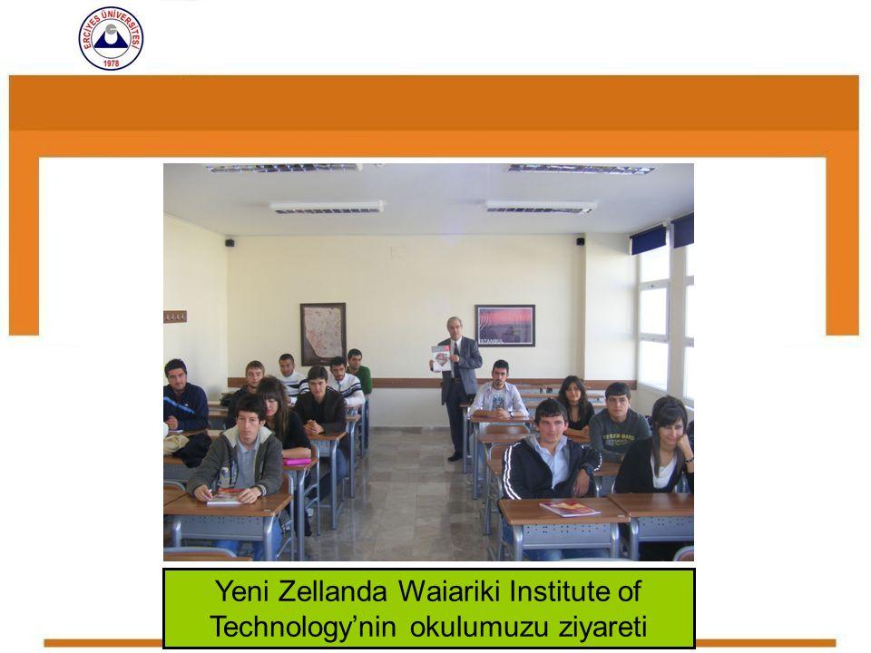 Yeni Zellanda Waiariki Institute of Technology'nin okulumuzu ziyareti