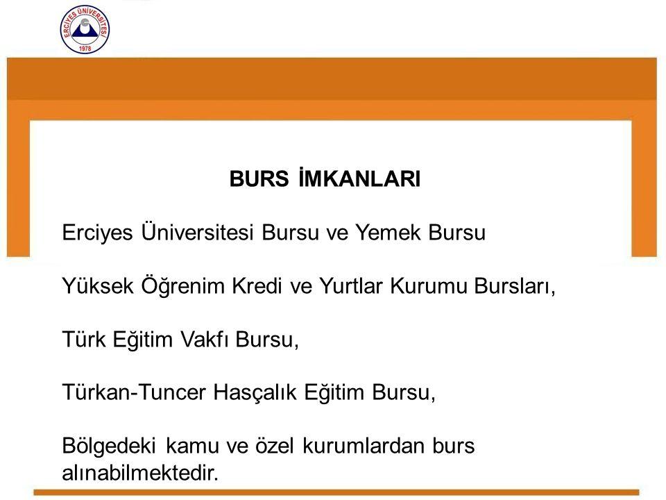 Erciyes Üniversitesi Bursu ve Yemek Bursu