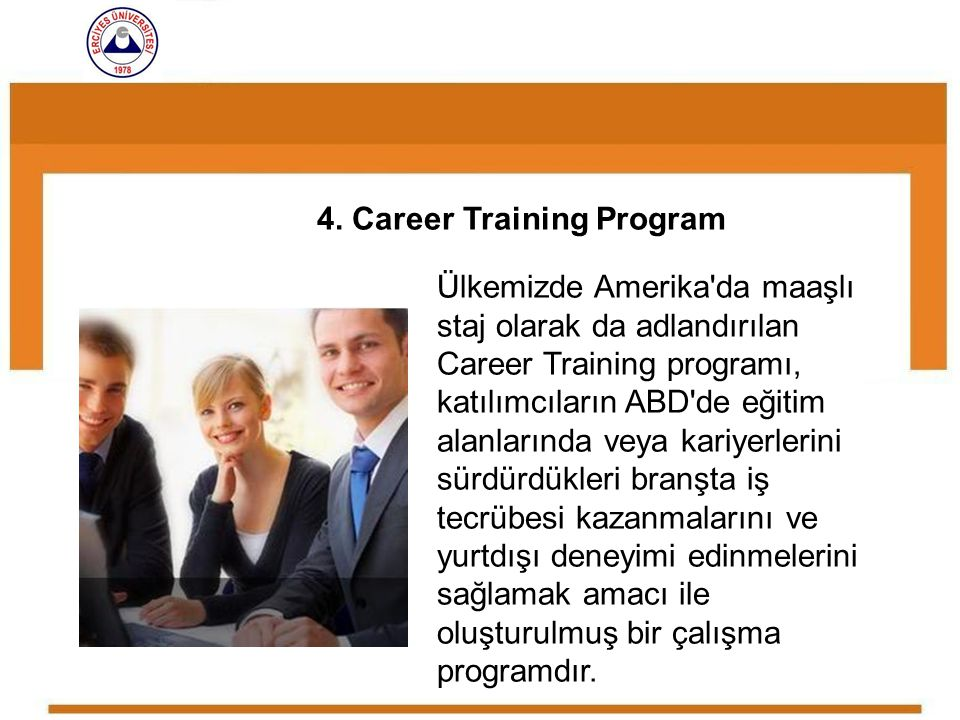 4. Career Training Program