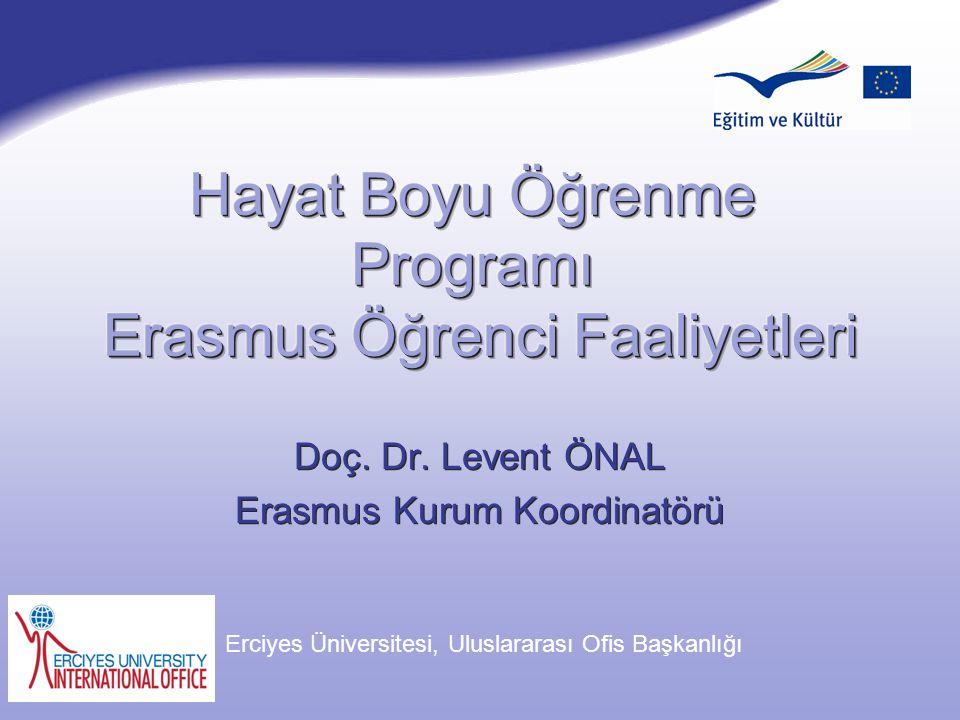 Hayat Boyu Öğrenme Programı Erasmus Öğrenci Faaliyetleri