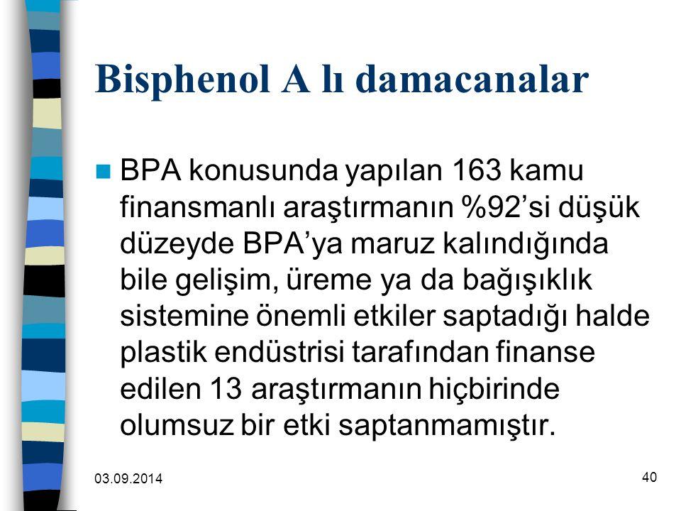 Bisphenol A lı damacanalar