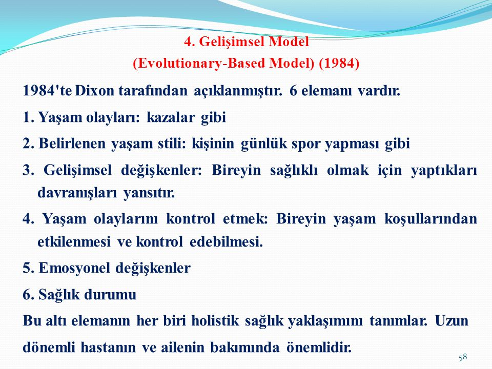 4. Gelişimsel Model (Evolutionary-Based Model) (1984)