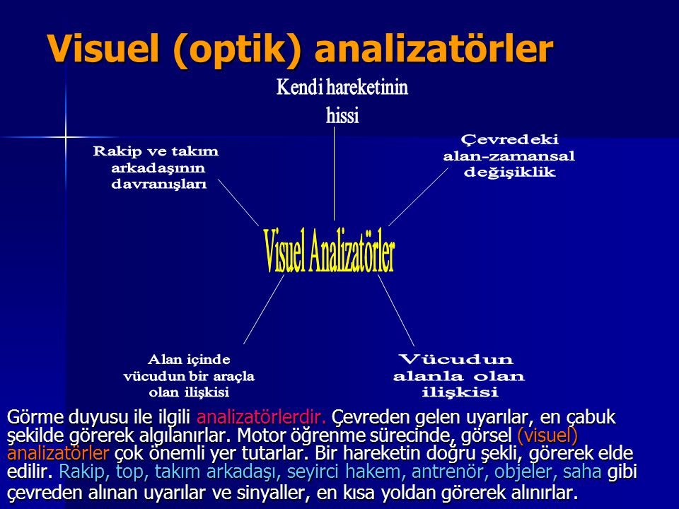 Visuel (optik) analizatörler