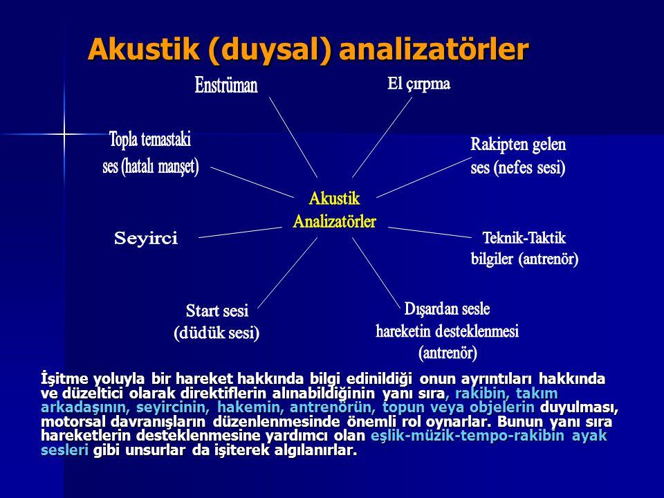 Akustik (duysal) analizatörler