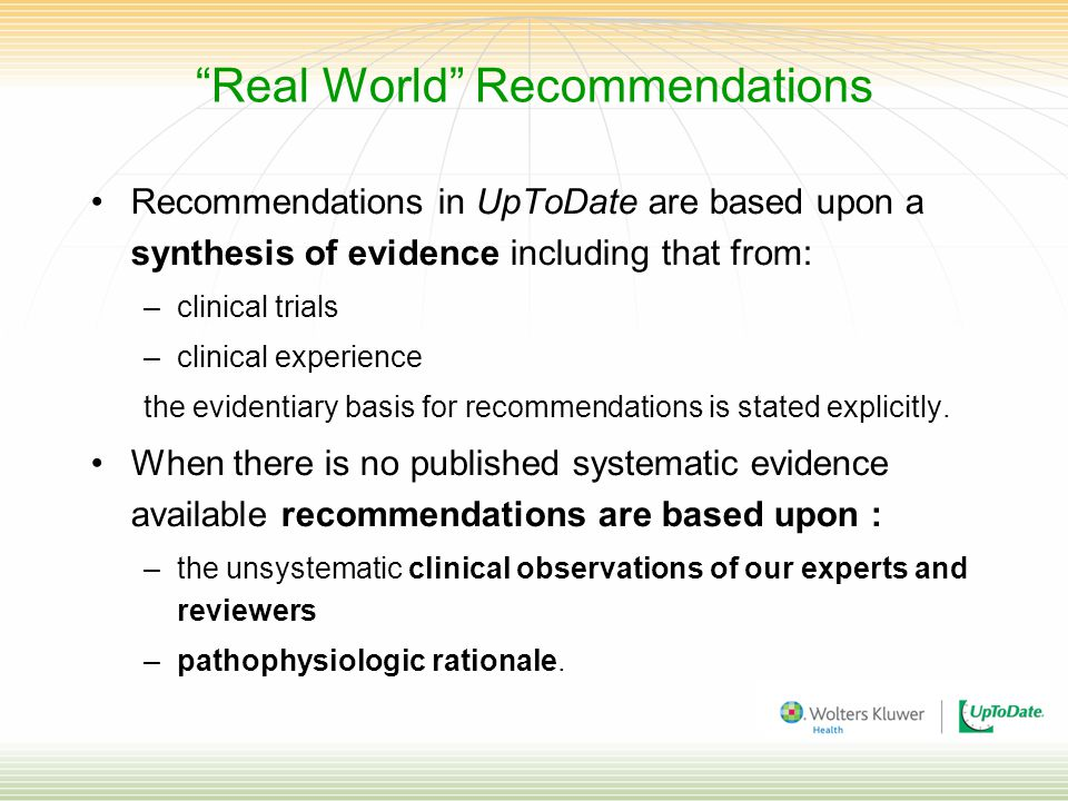 Real World Recommendations
