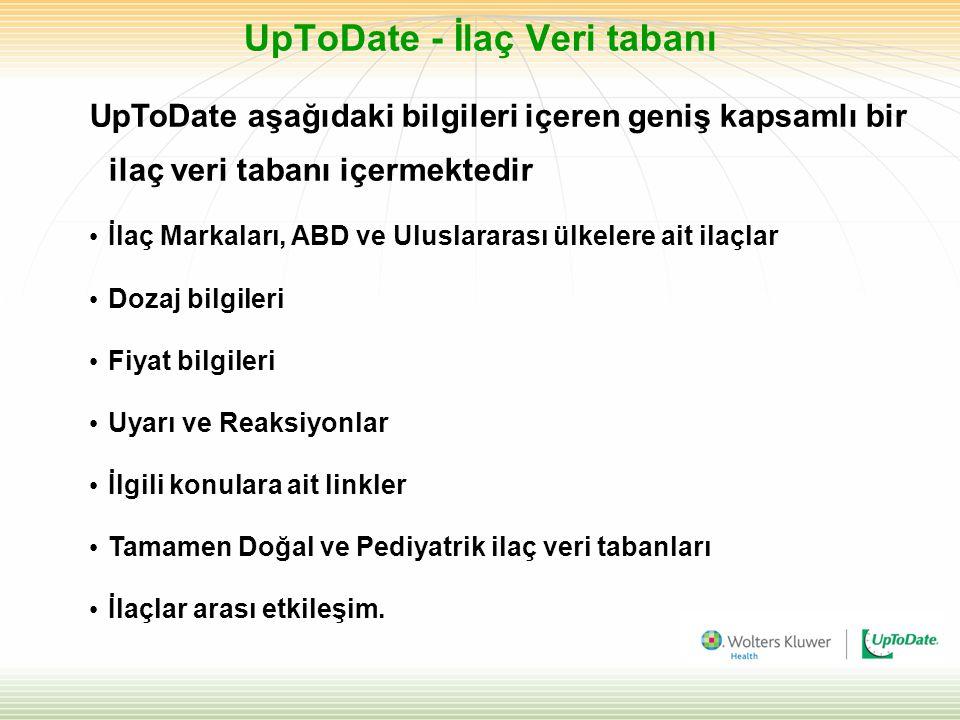 UpToDate - İlaç Veri tabanı