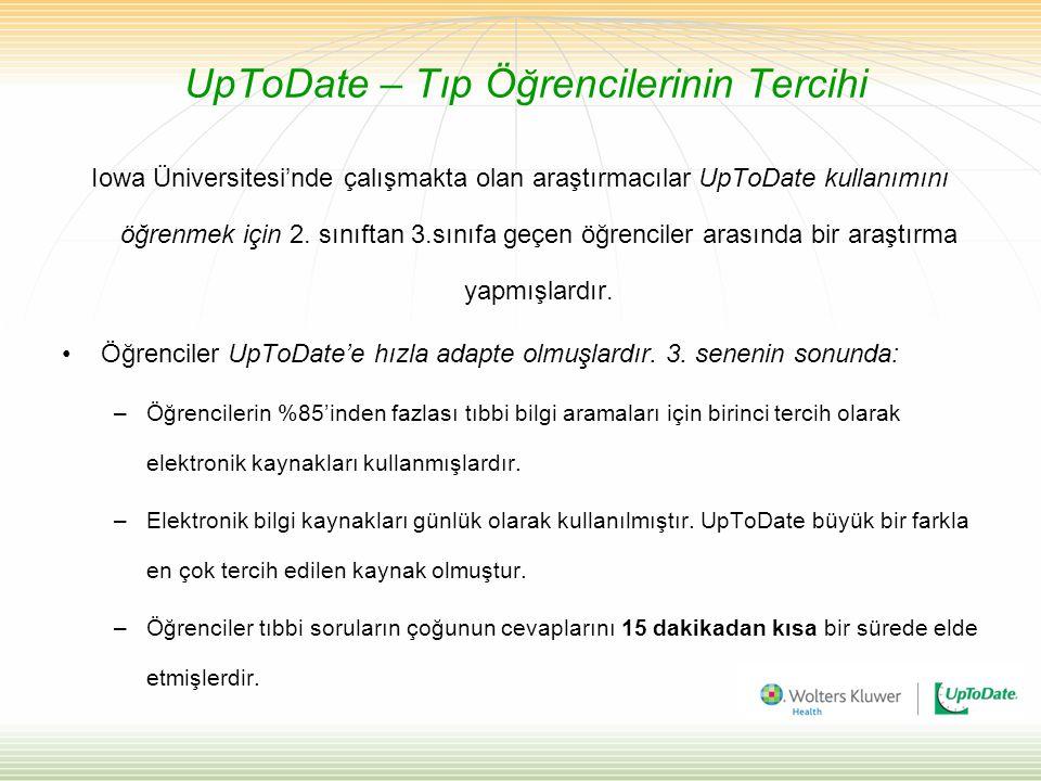 UpToDate – Tıp Öğrencilerinin Tercihi