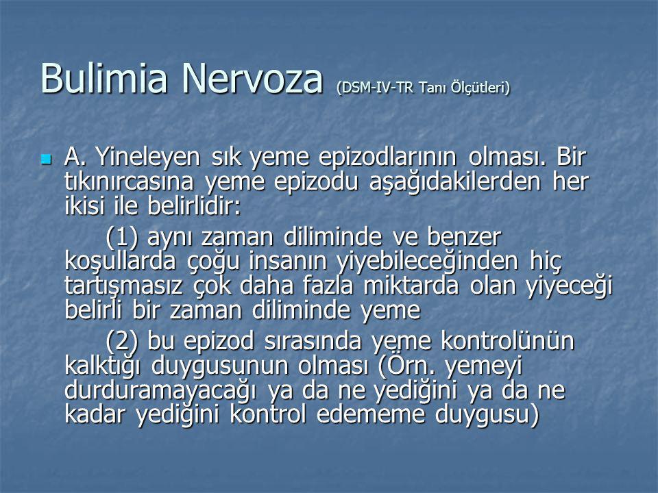 Bulimia Nervoza (DSM-IV-TR Tanı Ölçütleri)