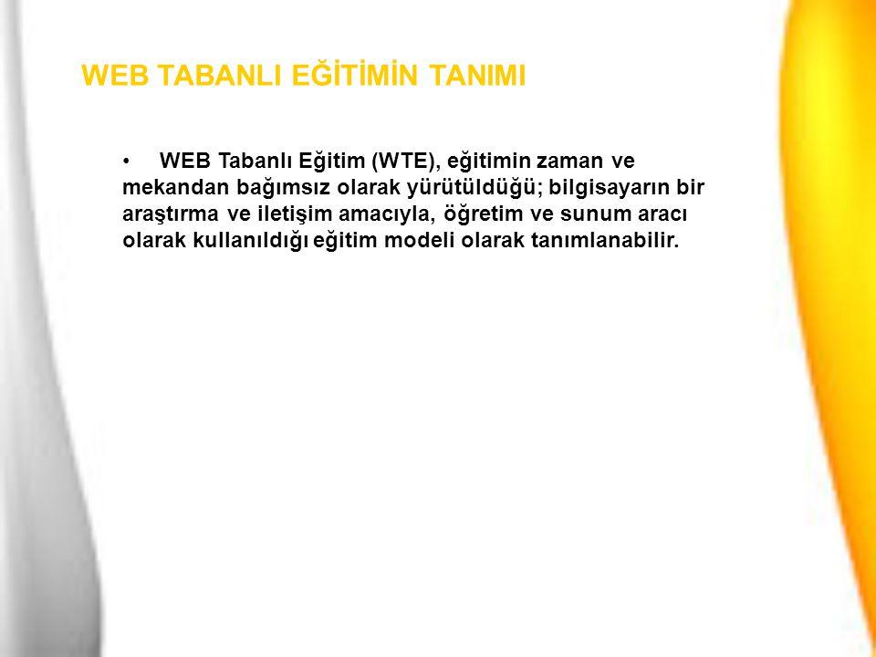 WEB TABANLI EĞİTİMİN TANIMI