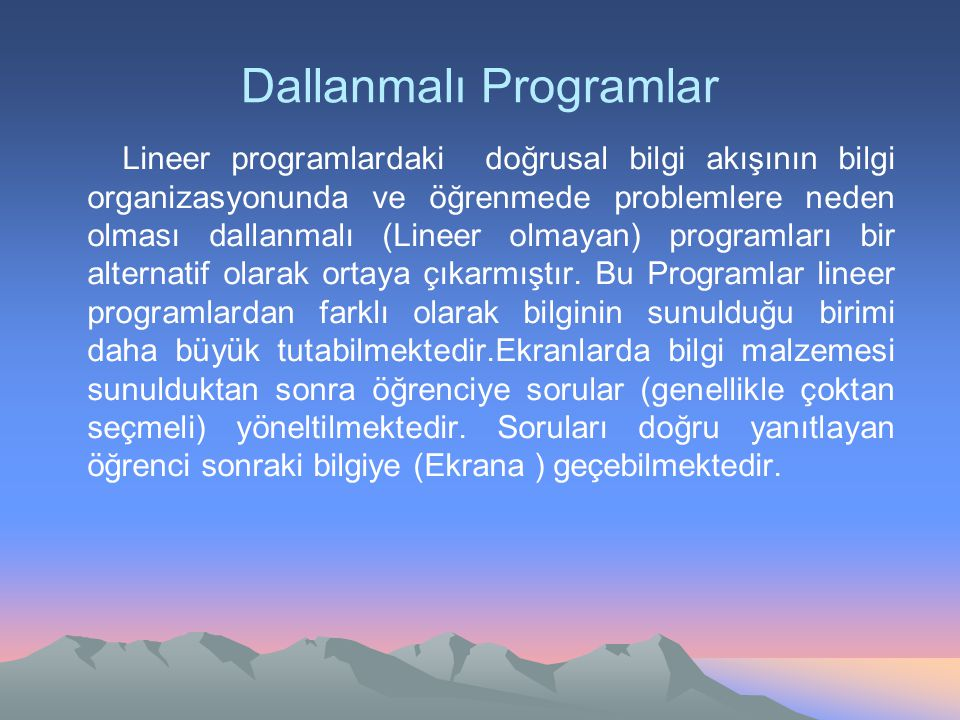 Dallanmalı Programlar