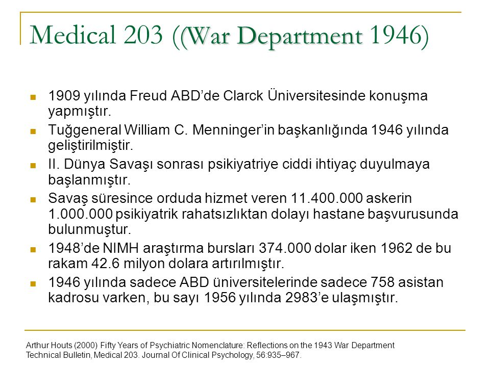 Medical 203 ((War Department 1946)