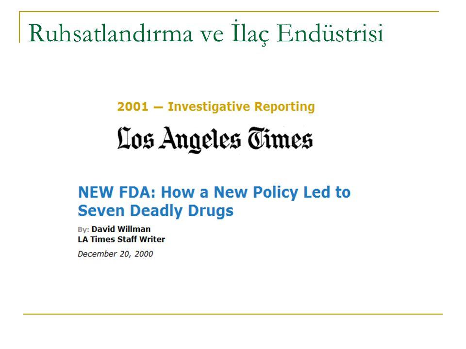 Ruhsatlandırma ve İlaç Endüstrisi