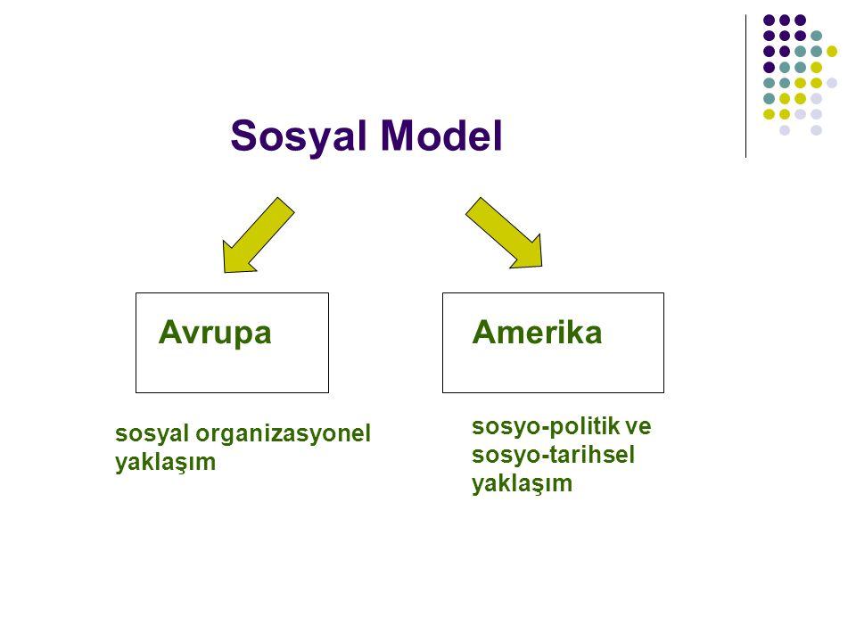 Sosyal Model Avrupa Amerika sosyo-politik ve sosyo-tarihsel yaklaşım