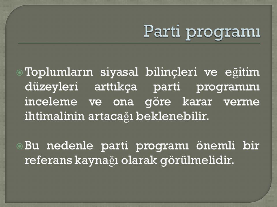Parti programı