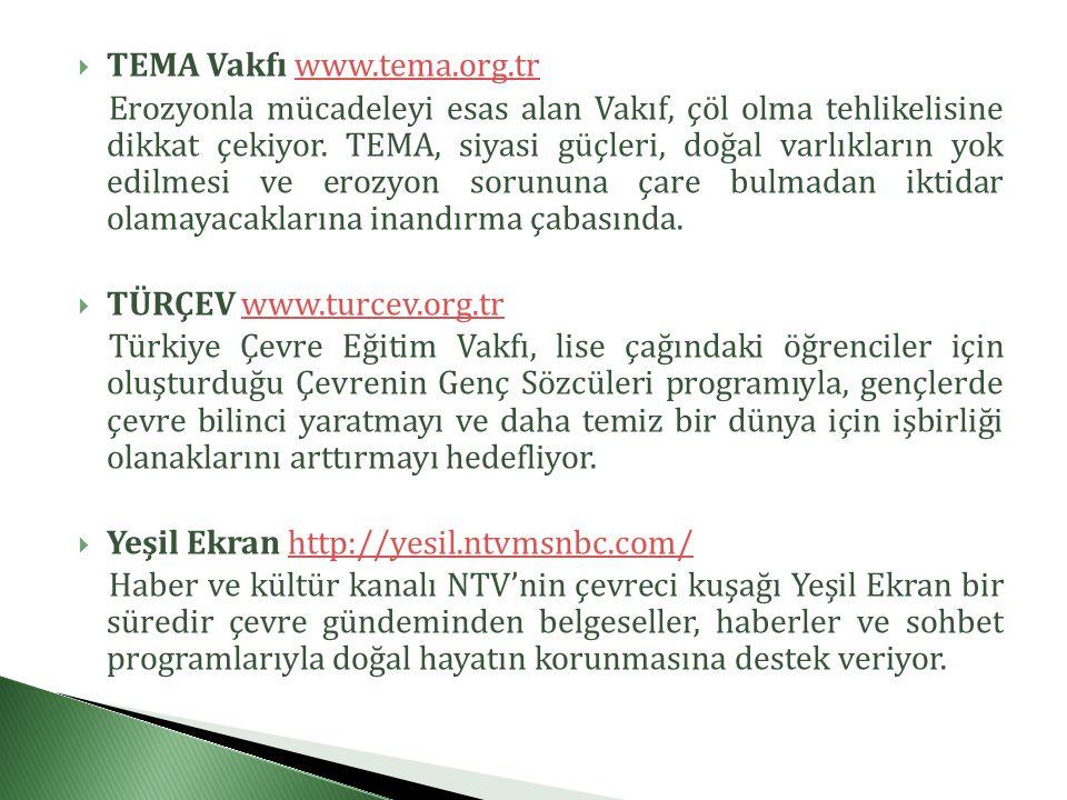 TEMA Vakfı www.tema.org.tr