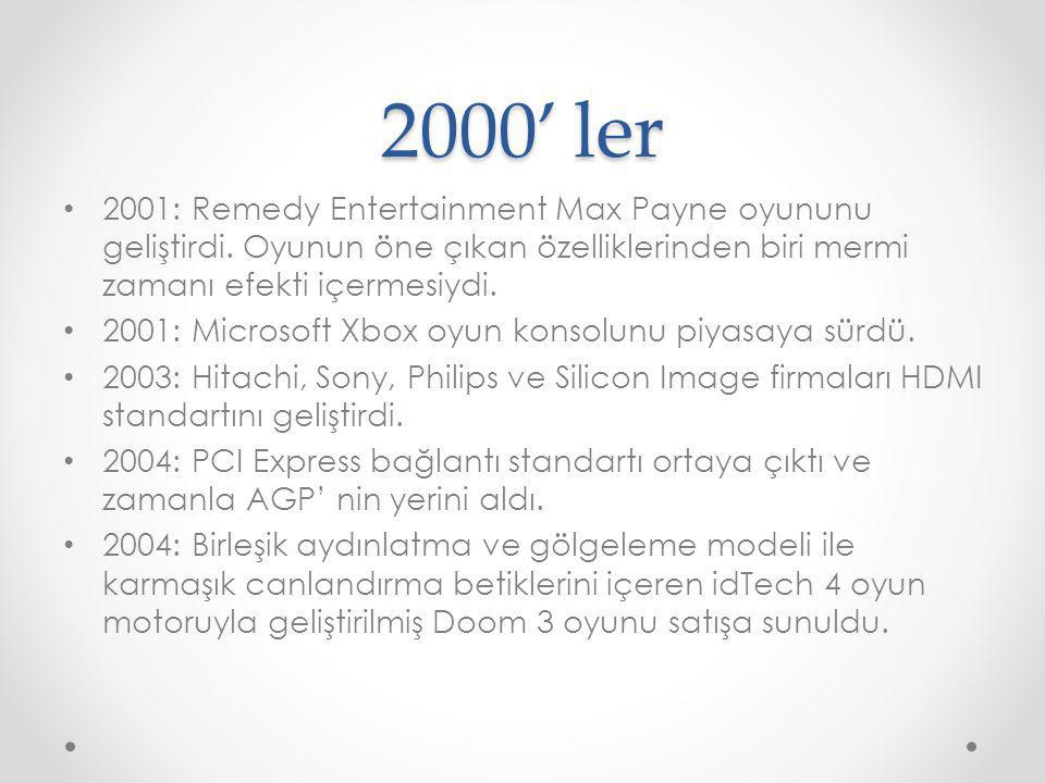 2000' ler 2001: Remedy Entertainment Max Payne oyununu geliştirdi. Oyunun öne çıkan özelliklerinden biri mermi zamanı efekti içermesiydi.
