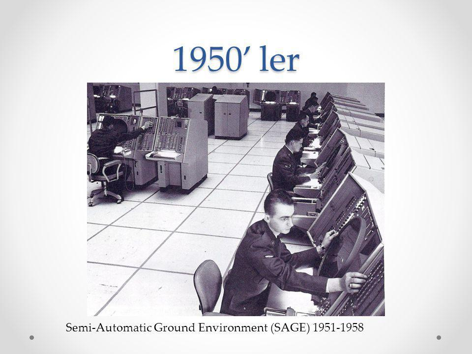 1950' ler Semi-Automatic Ground Environment (SAGE) 1951-1958