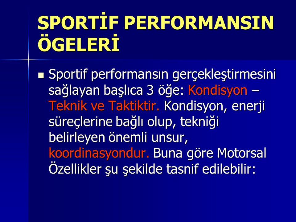 SPORTİF PERFORMANSIN ÖGELERİ