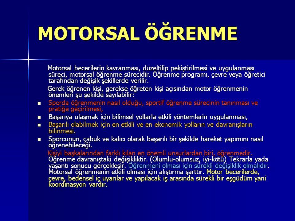 MOTORSAL ÖĞRENME