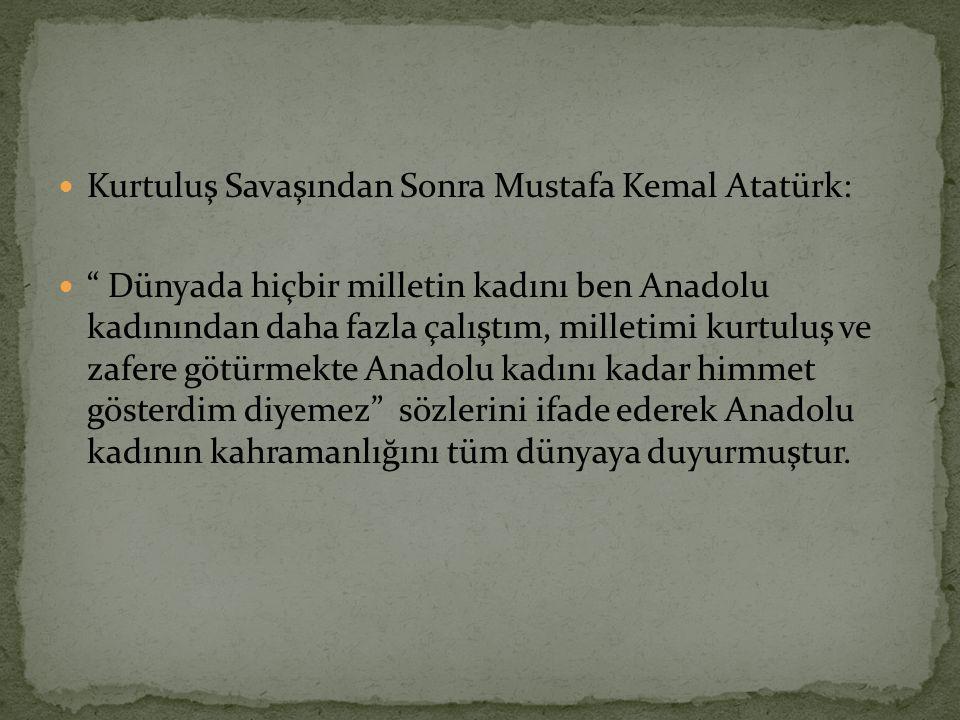 Kurtuluş Savaşından Sonra Mustafa Kemal Atatürk: