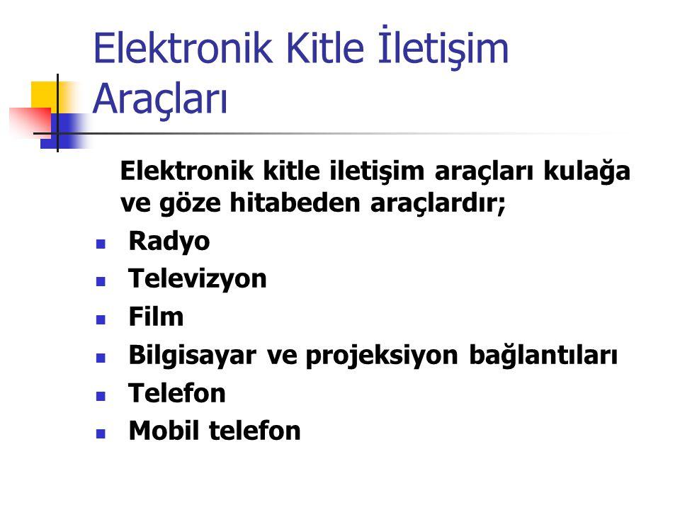 Elektronik Kitle İletişim Araçları