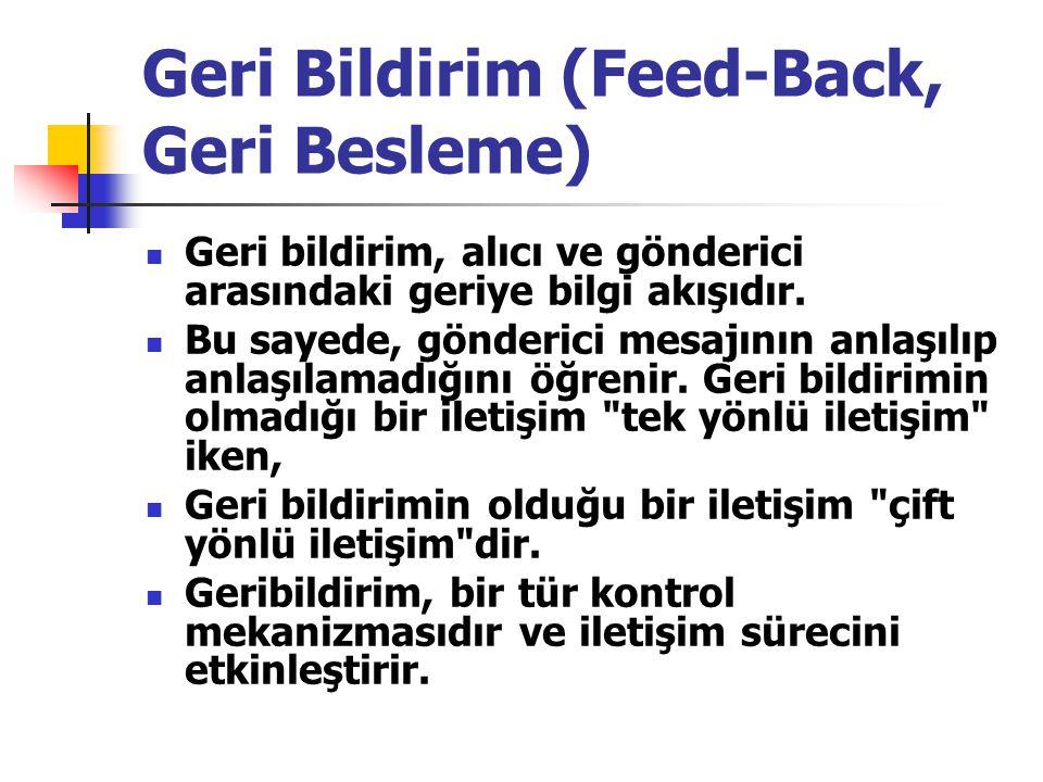 Geri Bildirim (Feed-Back, Geri Besleme)