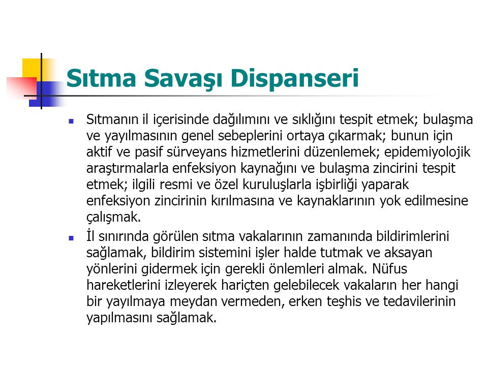 Sıtma Savaşı Dispanseri
