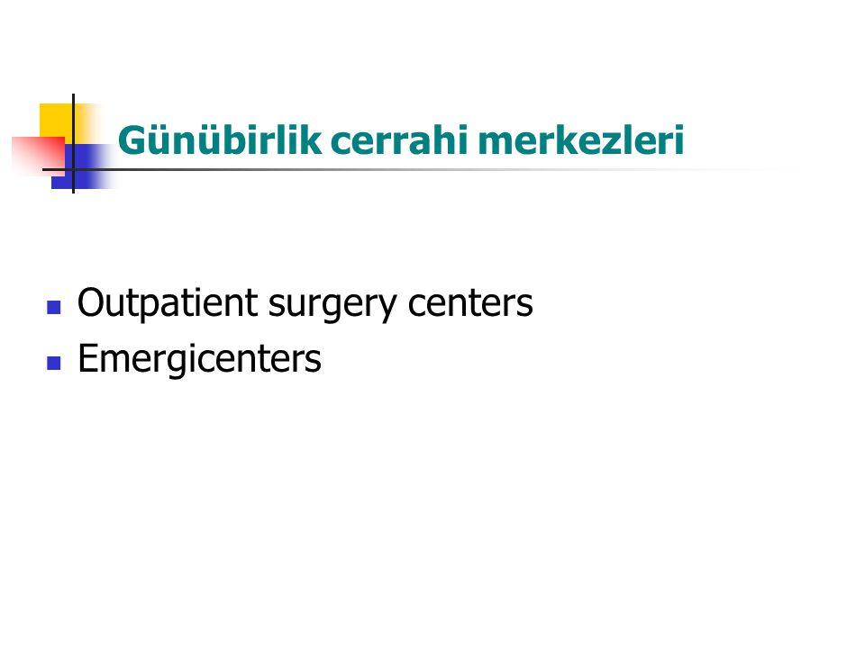 Günübirlik cerrahi merkezleri