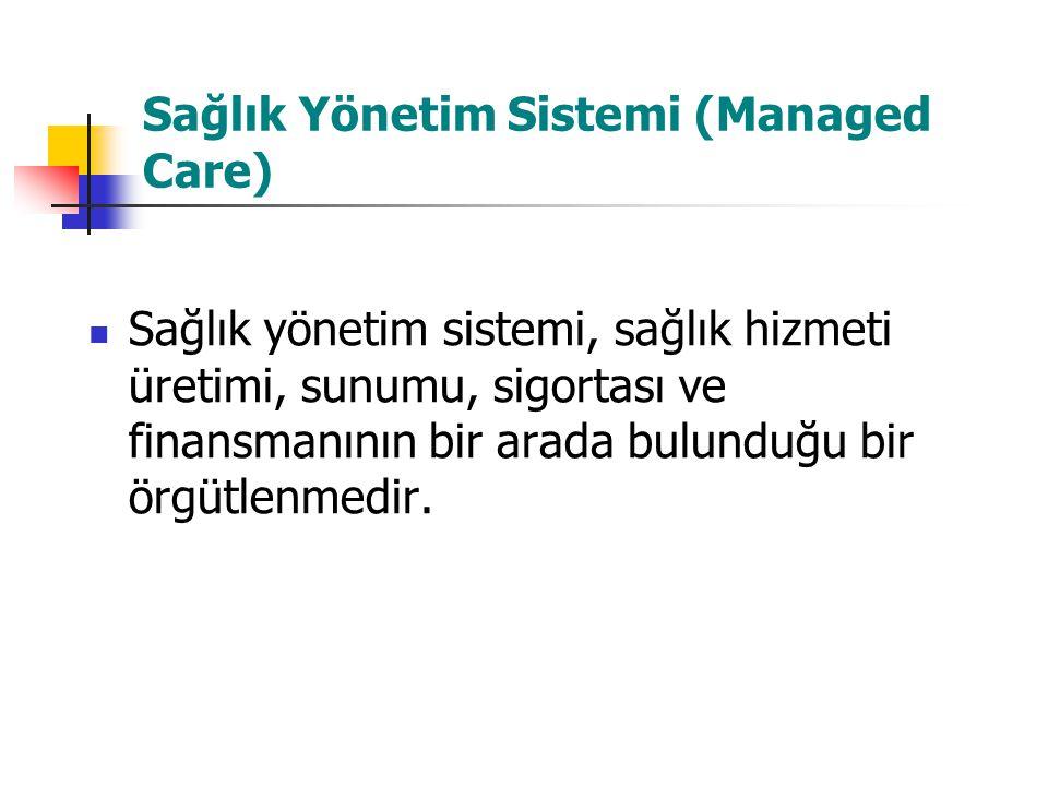 Sağlık Yönetim Sistemi (Managed Care)