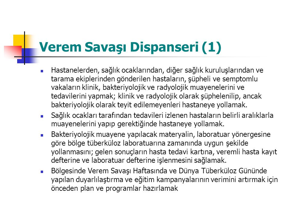 Verem Savaşı Dispanseri (1)