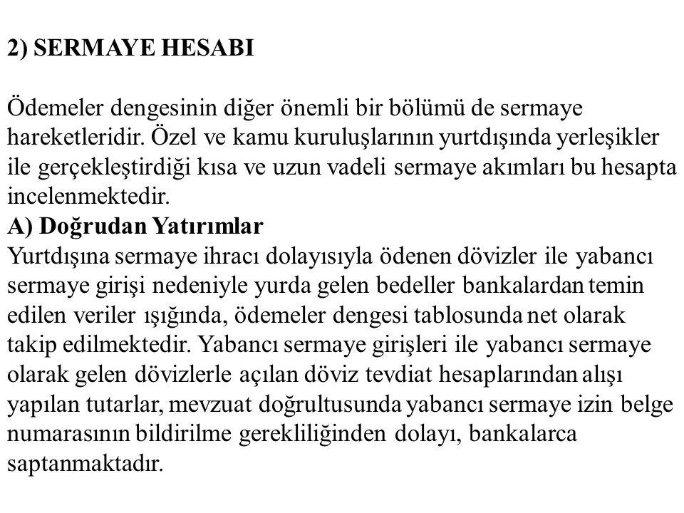 2) SERMAYE HESABI