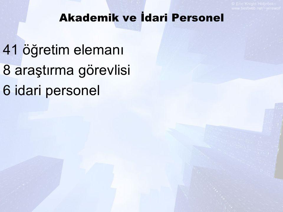 Akademik ve İdari Personel
