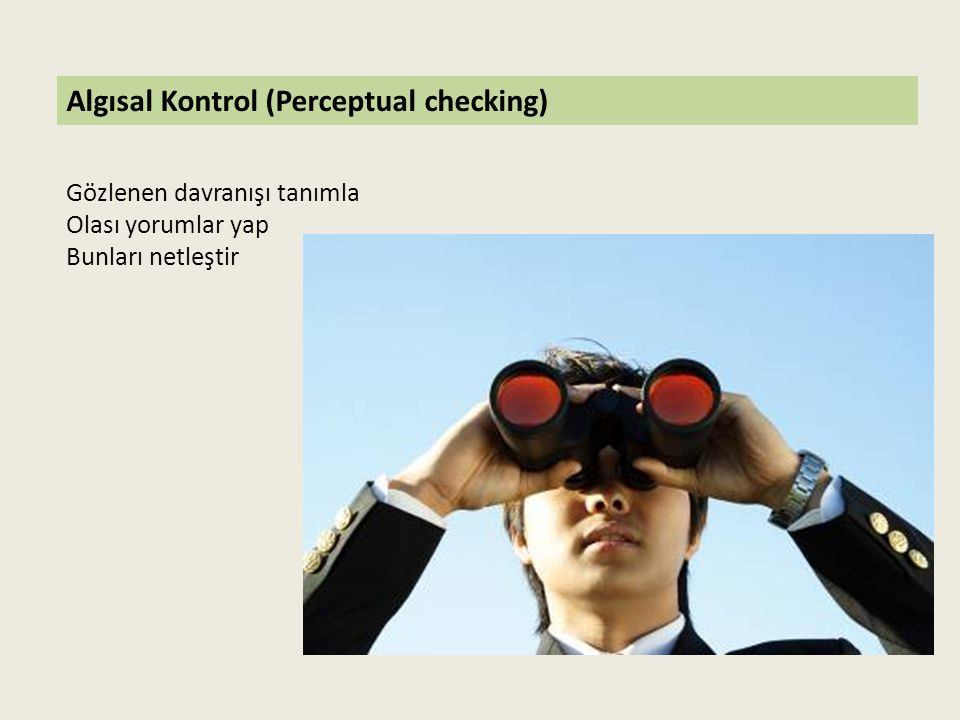 Algısal Kontrol (Perceptual checking)