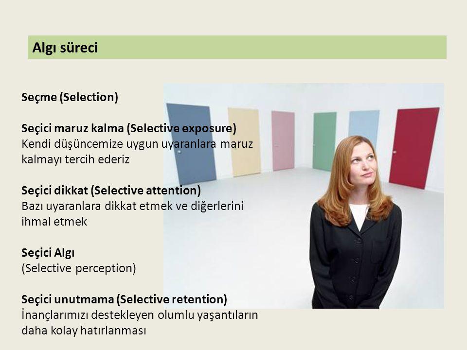 Algı süreci Seçme (Selection) Seçici maruz kalma (Selective exposure)
