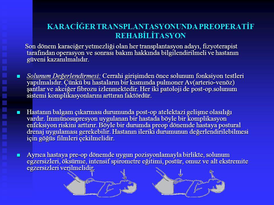KARACİĞER TRANSPLANTASYONUNDA PREOPERATİF REHABİLİTASYON