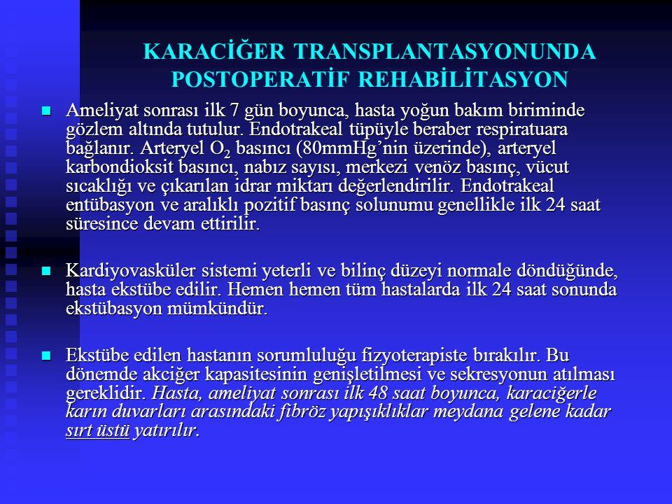 KARACİĞER TRANSPLANTASYONUNDA POSTOPERATİF REHABİLİTASYON