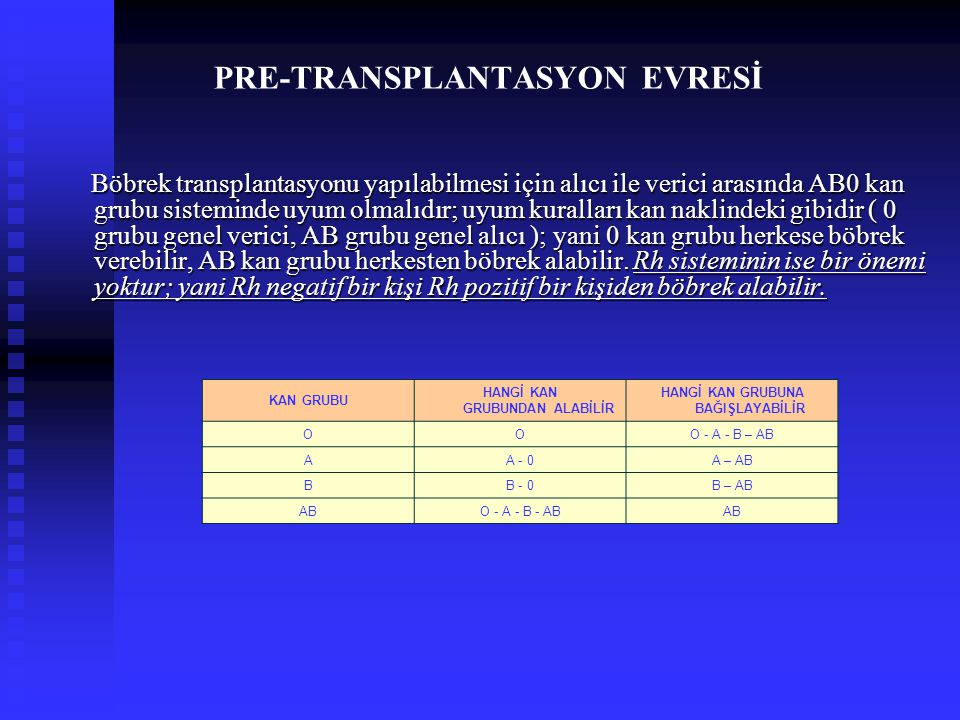 PRE-TRANSPLANTASYON EVRESİ