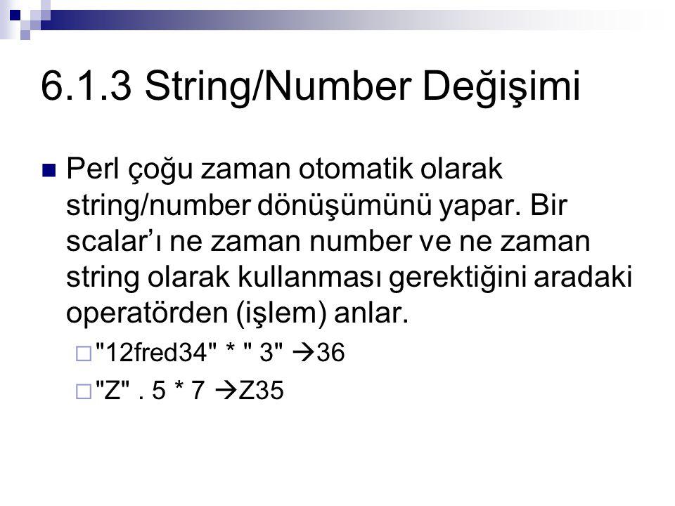 6.1.3 String/Number Değişimi