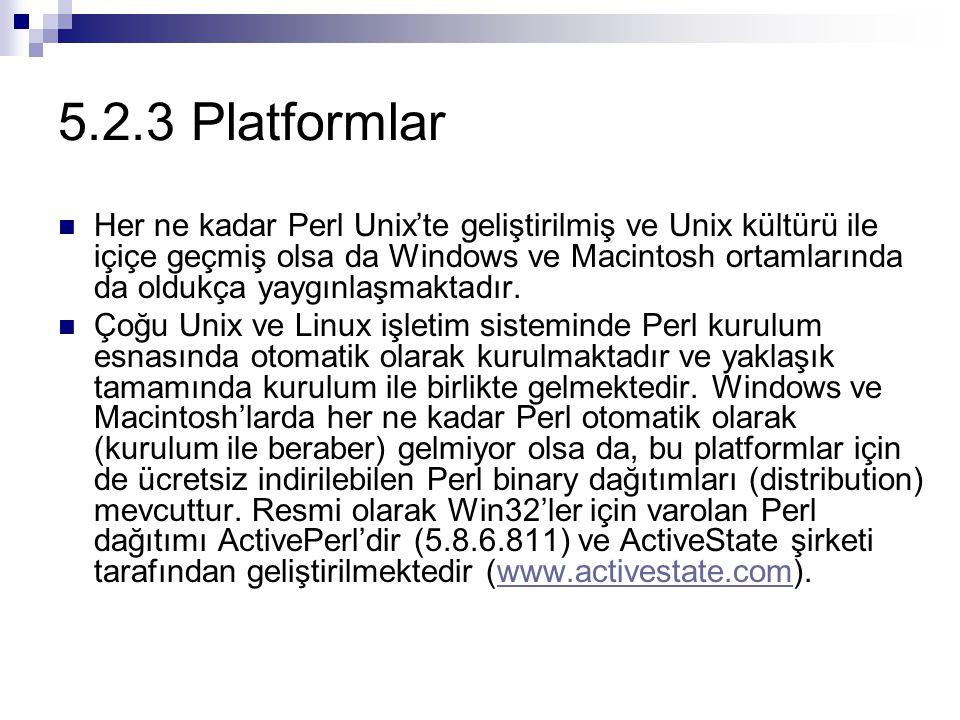 5.2.3 Platformlar
