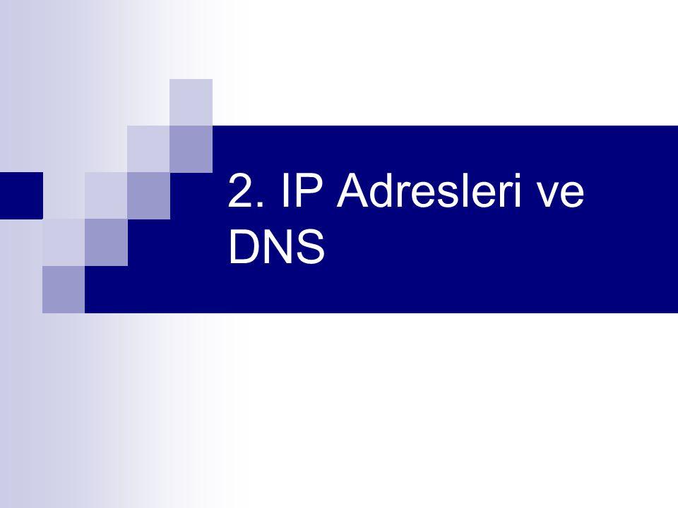 2. IP Adresleri ve DNS