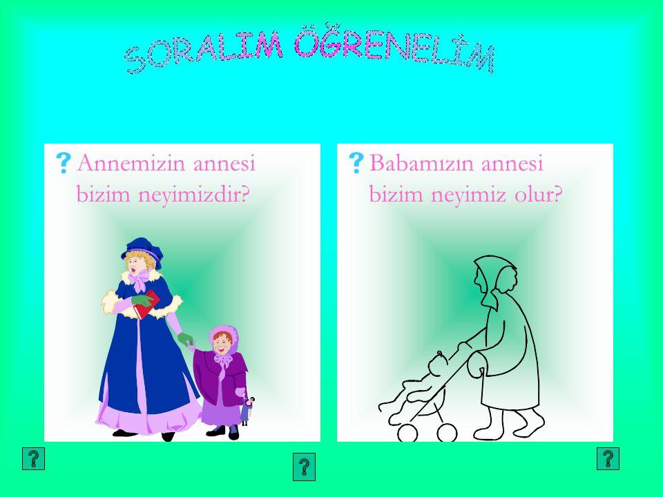 SORALIM ÖĞRENELİM Annemizin annesi bizim neyimizdir