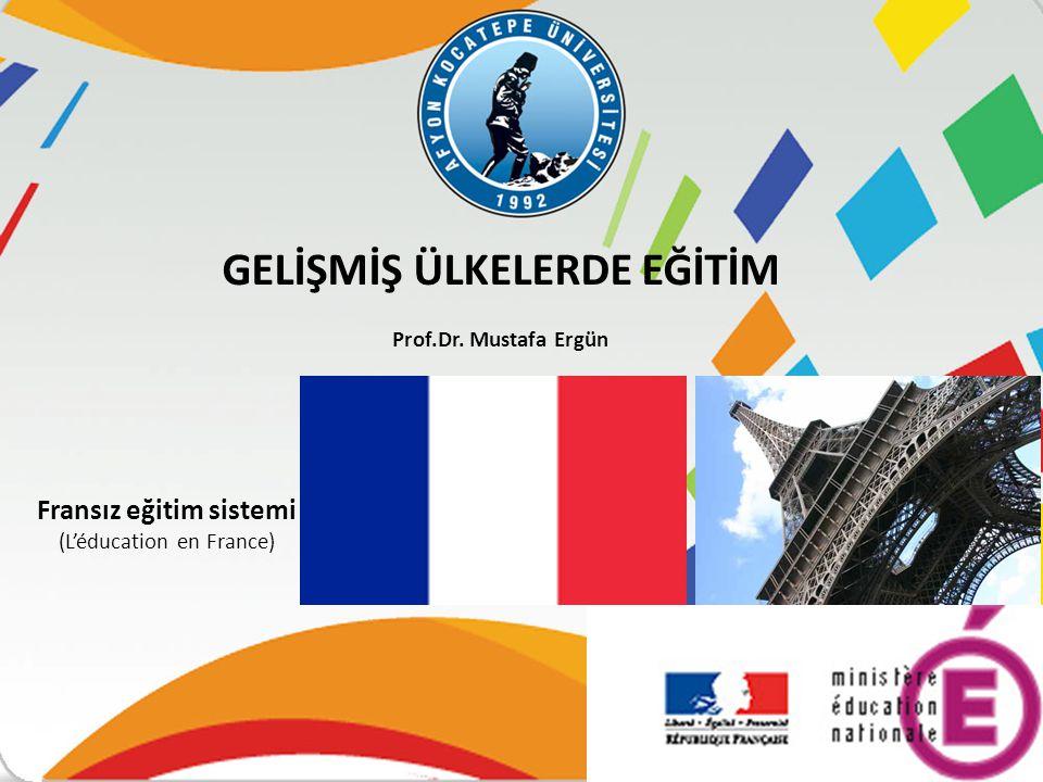 Fransız eğitim sistemi (L'éducation en France)