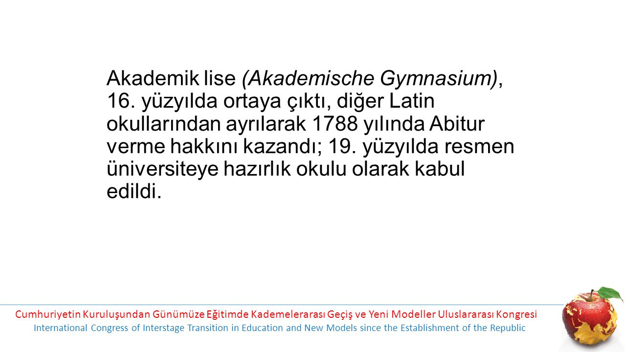 Akademik lise (Akademische Gymnasium), 16