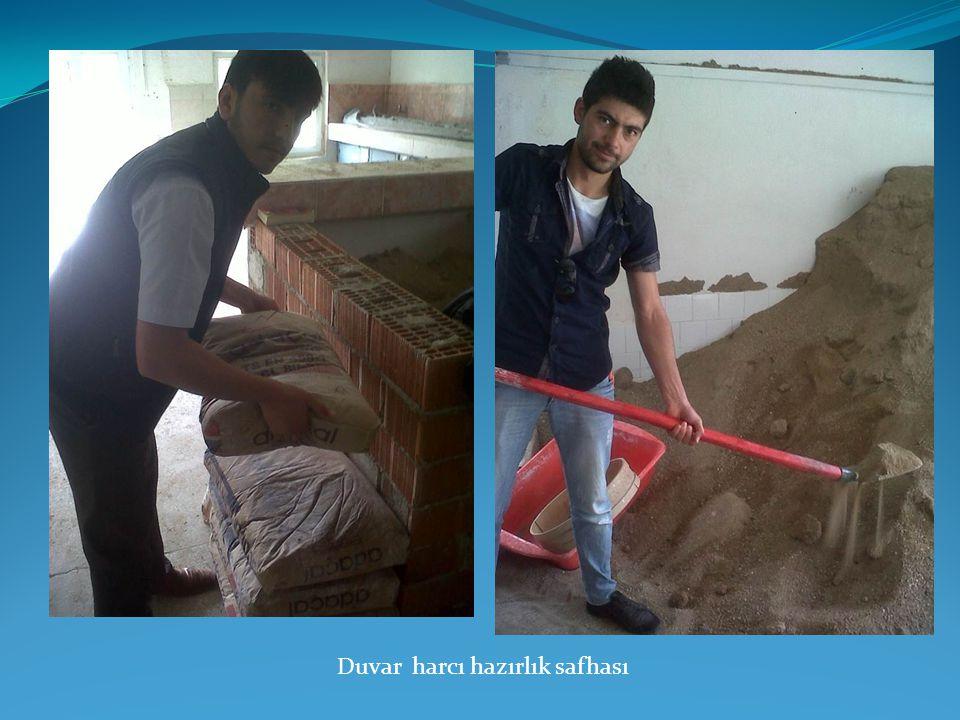 Duvar harcı hazırlık safhası