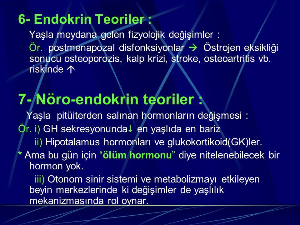 7- Nöro-endokrin teoriler :