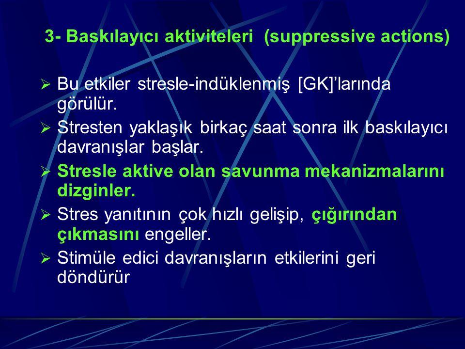 3- Baskılayıcı aktiviteleri (suppressive actions)