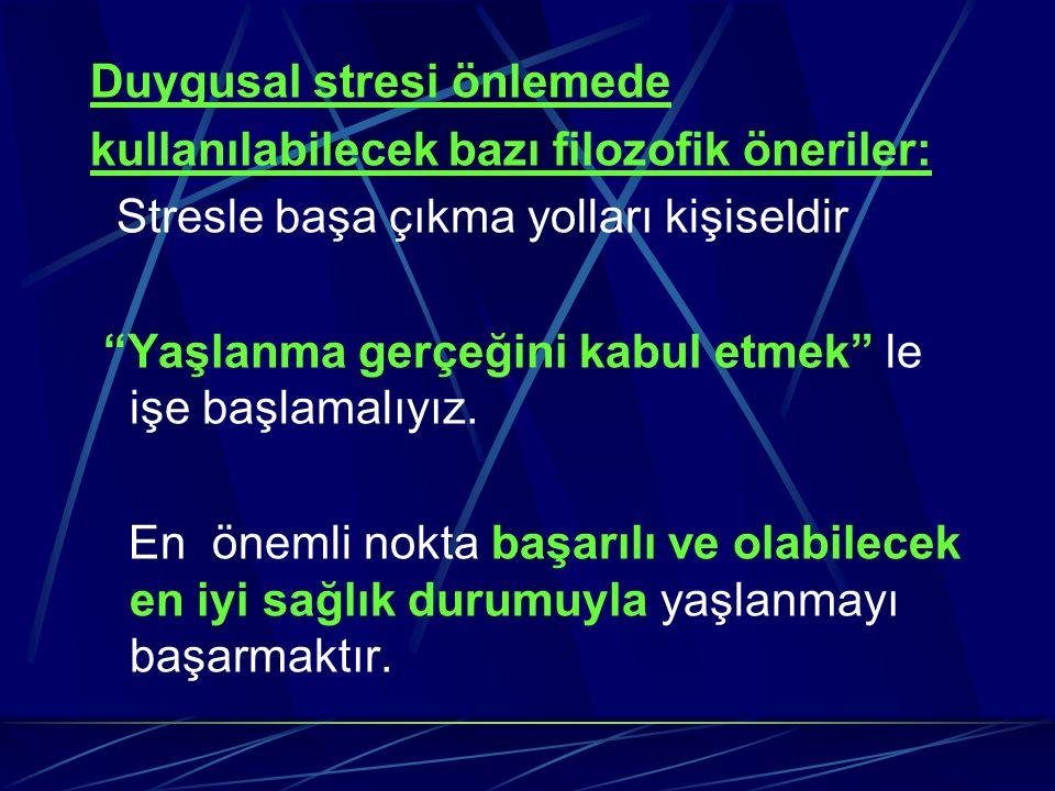 Duygusal stresi önlemede