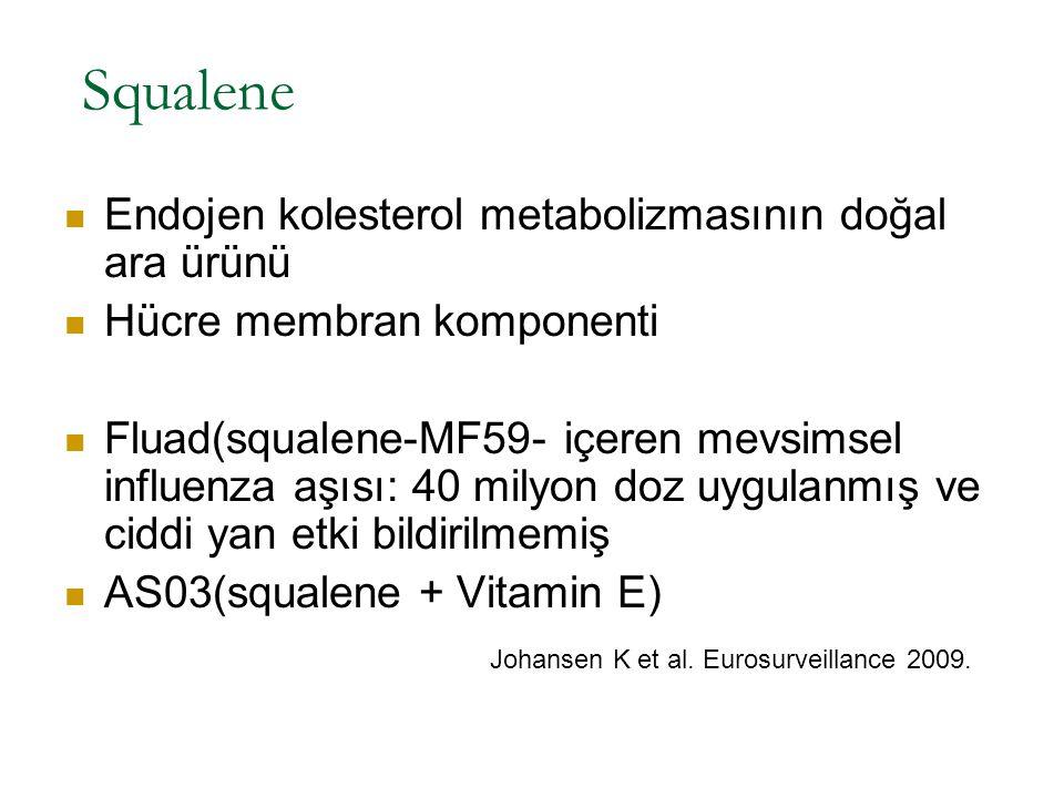 Squalene Endojen kolesterol metabolizmasının doğal ara ürünü