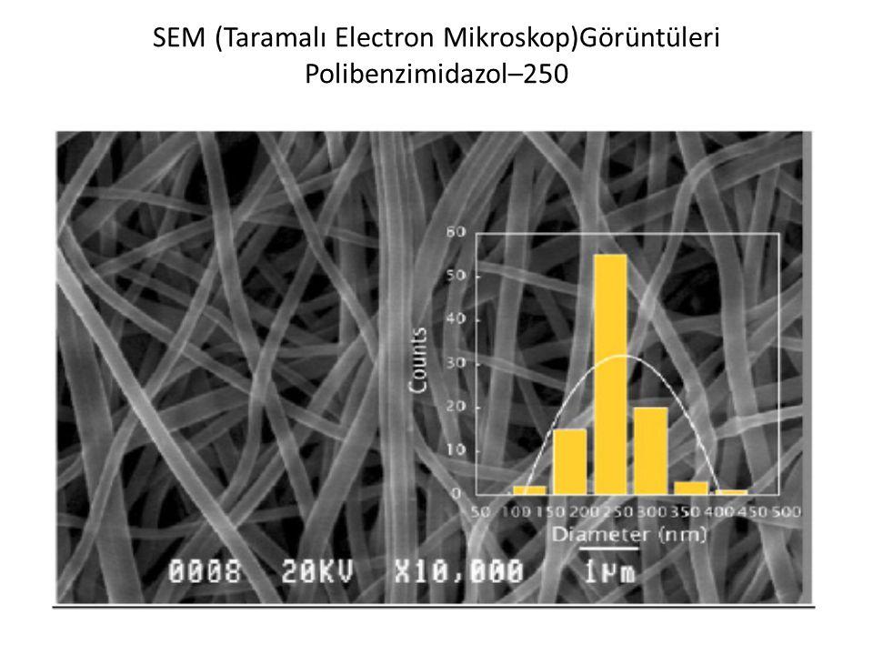 SEM (Taramalı Electron Mikroskop)Görüntüleri Polibenzimidazol–250